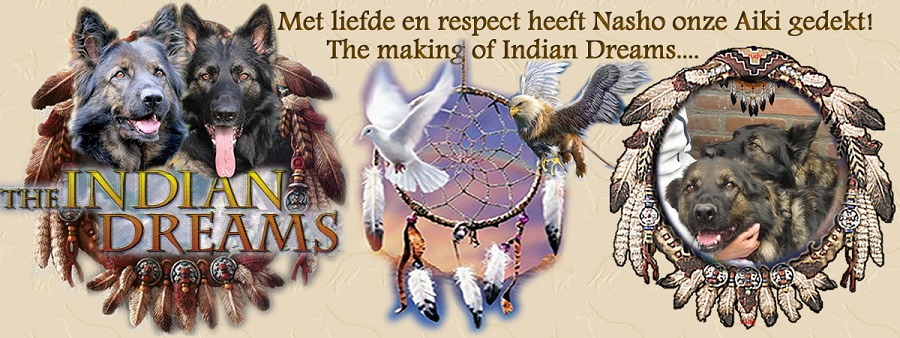 Aiki wordt door haar Indian Boy Oudduitse Herder Nasho gedekt, the making of Indian Dreams!
