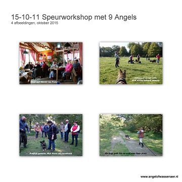 Speurworkshop met 9 Angels:Onze Fee met haar halfzus en broer: Indian Angel Novie & Ocean, en haar kinderen:  Filos, Senna, Xantos & Sam van Happinez, Jolly Angel Zorro en Jara